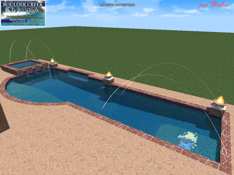 3d virtual pool designs boulder creek pools and spas for Pool design 3d
