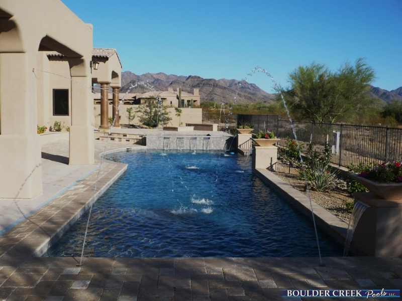 Outdoor living spaces boulder creek pools and spas - Before And After Boulder Creek Pools And Spas