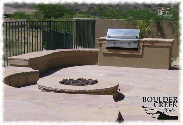 Custom Fireplaces Bbqs More From Boulder Creek Pools Phoenix Az