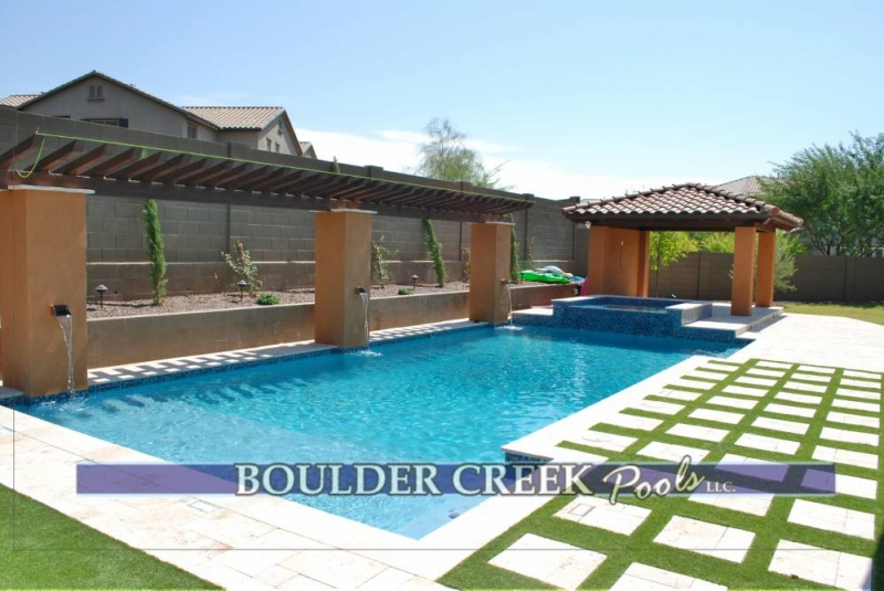 Geometric pools boulder creek pools and spas for Pool design jobs