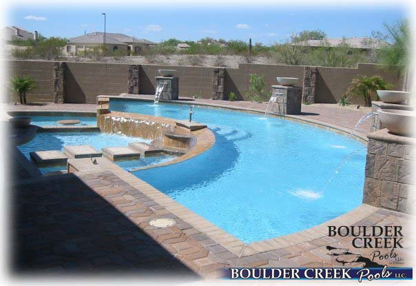 Negative edge pools Building Pool After Angle Pool With Reverse Negative Edge Sitting Area Boulder Creek Pools And Spas Negative Edge Pools Boulder Creek Pools And Spas