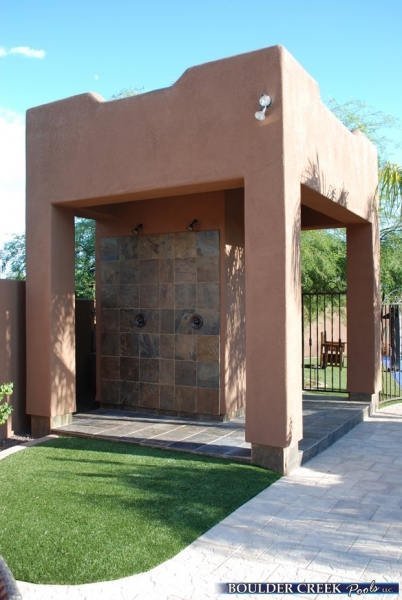 Outdoor living spaces boulder creek pools and spas - Outdoor Pool Shower