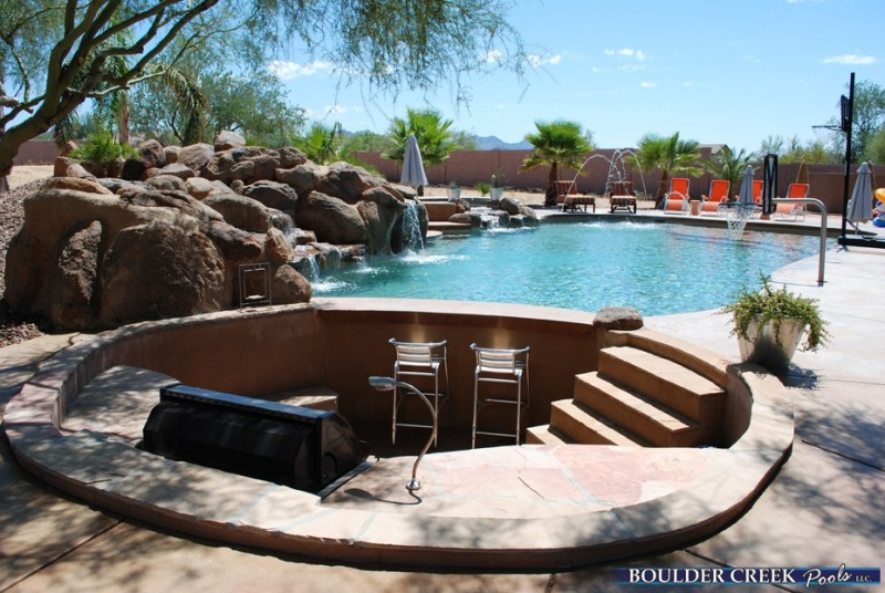 Pictures Of Outdoor Pool Bars : Outdoor Living Spaces  Boulder Creek Pools and Spas