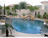 Pools - Double waterfall with rolled bond beam
