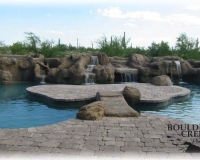 Features - Faux Waterfall And Island