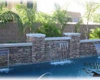 Features - Tuscan Style Wall With Sheer Decents