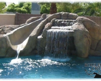 Water Feature - Artificial Waterfall and Slide